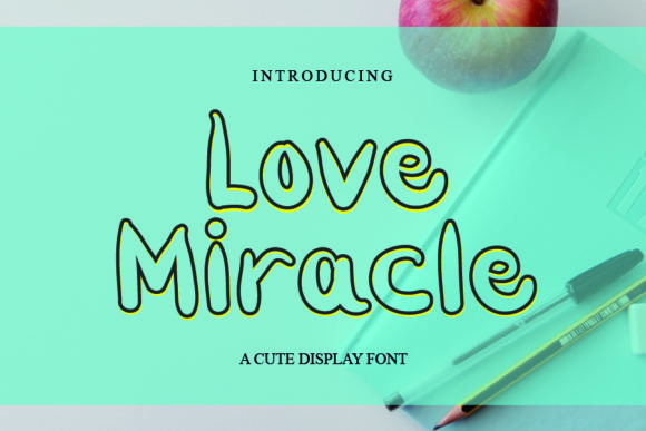 Print on Demand: Love Miracle Display Font By mizanstudio