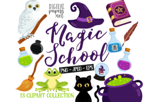 Print on Demand: Magic School Clipart Graphic Illustrations By DigitalPapers
