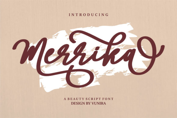 Print on Demand: Merrika Script & Handwritten Font By Vunira