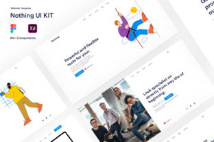 Nothing UI Kit - Templates for Website Graphic UX and UI Kits By artgalaxy