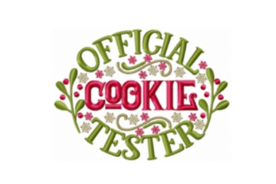 Official Cookie Tester Christmas Embroidery Design By Sew Terific Designs