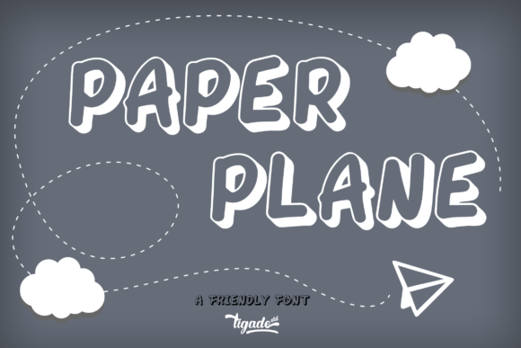 Print on Demand: Paper Plane Display Font By Tigade std