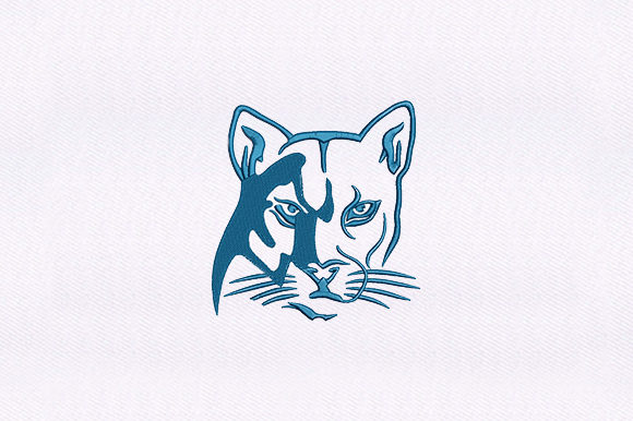 Puma Cat Design Wild Animals Embroidery Design By DigitEMB