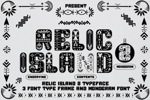 Print on Demand: Relic Island 2 Decorative Font By jehansyah251