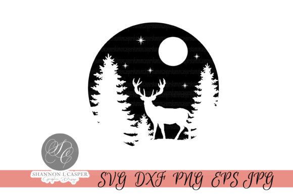 Print on Demand: Round Winter Sign SVG Template Graphic Illustrations By Shannon Casper