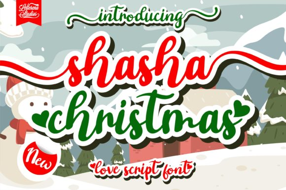 Print on Demand: Shasha Christmas Script & Handwritten Font By letterenastudios