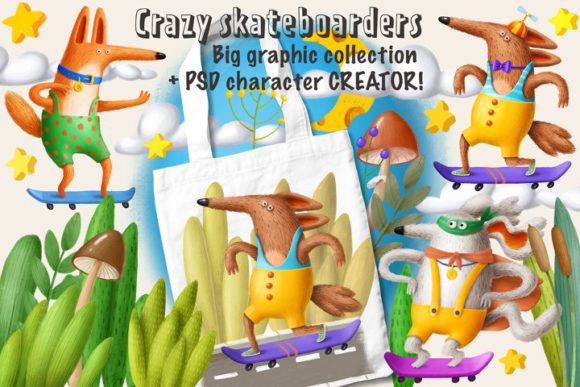 Print on Demand: Skateboarder - Character Creator Graphic Illustrations By Architekt_AT