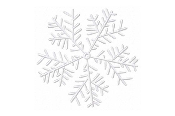 Print on Demand: Snowflake New Year Christmas Embroidery Design By EmbArt