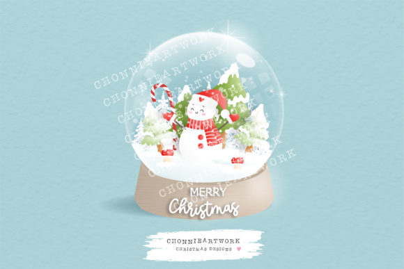 Snowman Clipart, Ai, Jpeg, PNG 300 DPI Graphic Crafts By Chonnieartwork