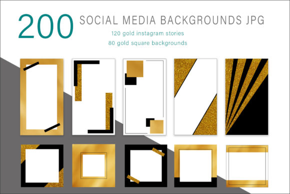 Print on Demand: Square and Instagram Stories Background Graphic Graphic Templates By AS Digitale