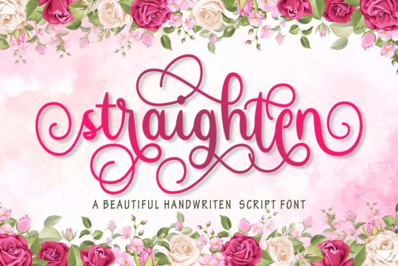 Print on Demand: Straighten Script & Handwritten Font By Doehantz Studio