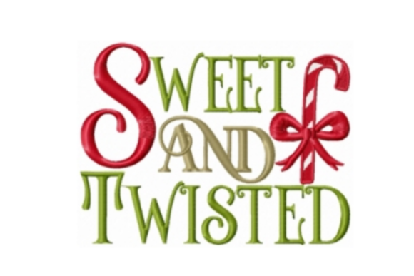 Sweet and Twisted Christmas Embroidery Design By Sew Terific Designs