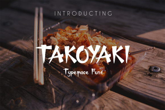 Print on Demand: Takoyaki Display Font By hadjarcreative