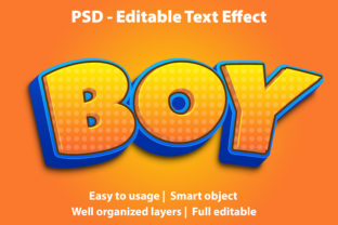 Text Effect Boy Premium Graphic Graphic Templates By yosiduck