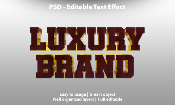Text Effect Luxury Brand Premium Graphic Graphic Templates By yosiduck