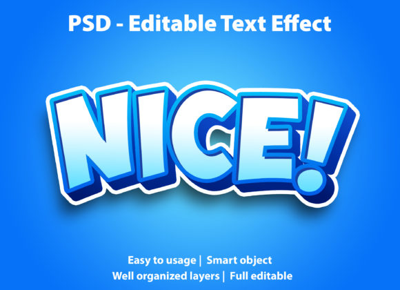 Text Effect Nice Premium Graphic Graphic Templates By yosiduck