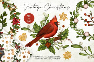 Print on Demand: Vintage Christmas. Big Graphic Kit. Graphic Illustrations By Red Ink