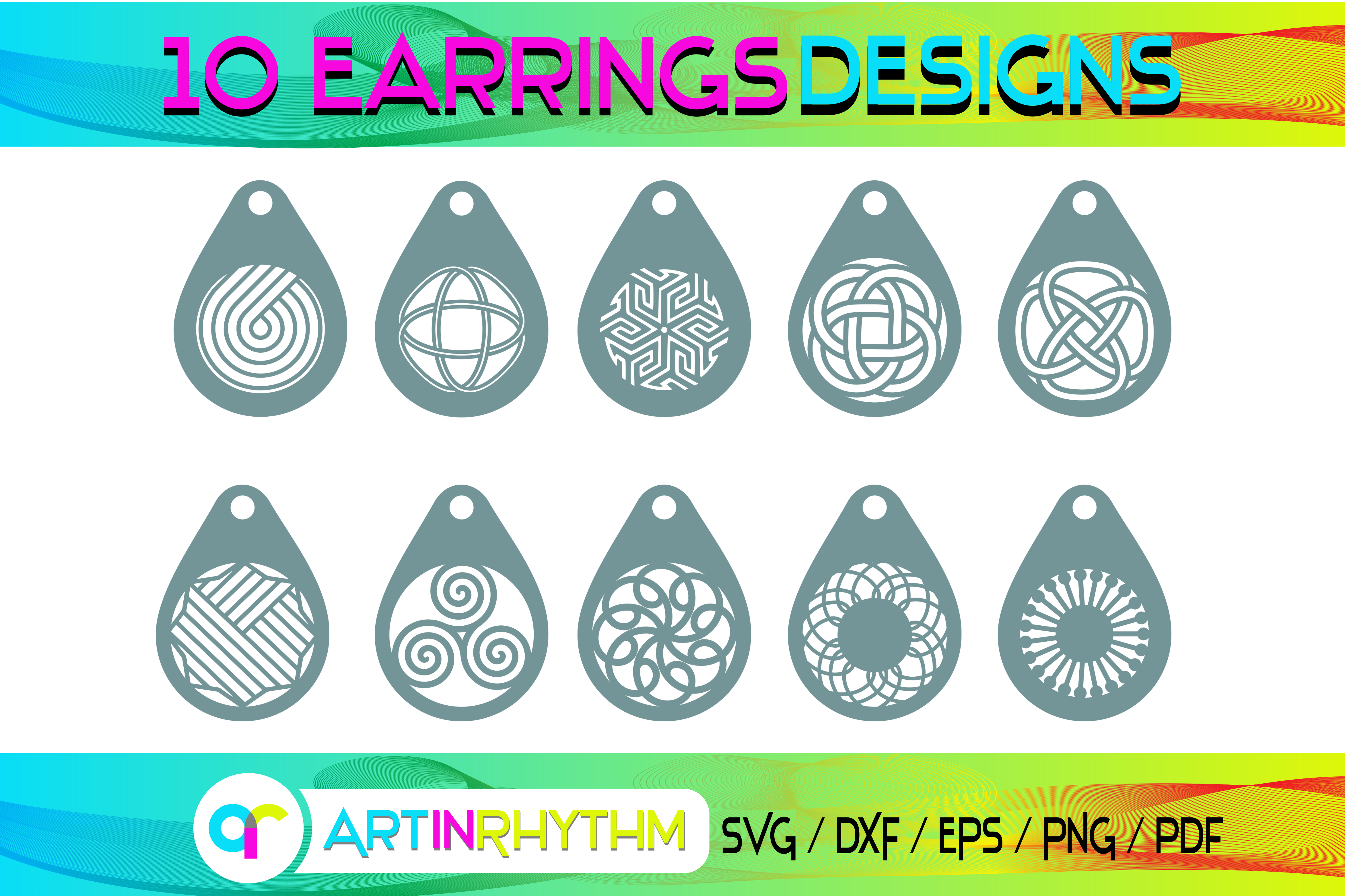 Earring Templates SVG File