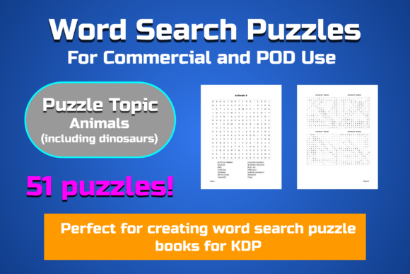 51 Animal Word Search Puzzles Graphic KDP Interiors By Take It And Teach