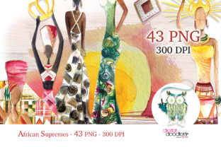 Print on Demand: African Supremes Graphics Graphic Illustrations By Digital Doodlers