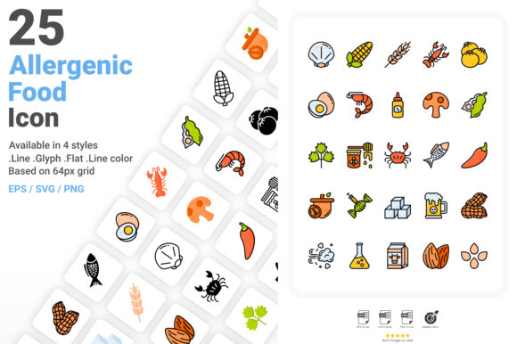 Allergenic Food Icon Pack Graphic Icons By aficons.studio