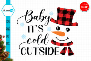 Print on Demand: Baby It's Cold Outside,Buffalo Plaid Svg Graphic Crafts By All About Svg