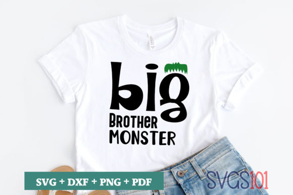 Big Brother Monster SVG Graphic Illustrations By svgs101
