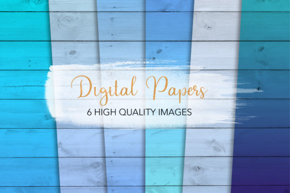 Print on Demand: Blue Wood Backgrounds Graphic Backgrounds By loyaarts