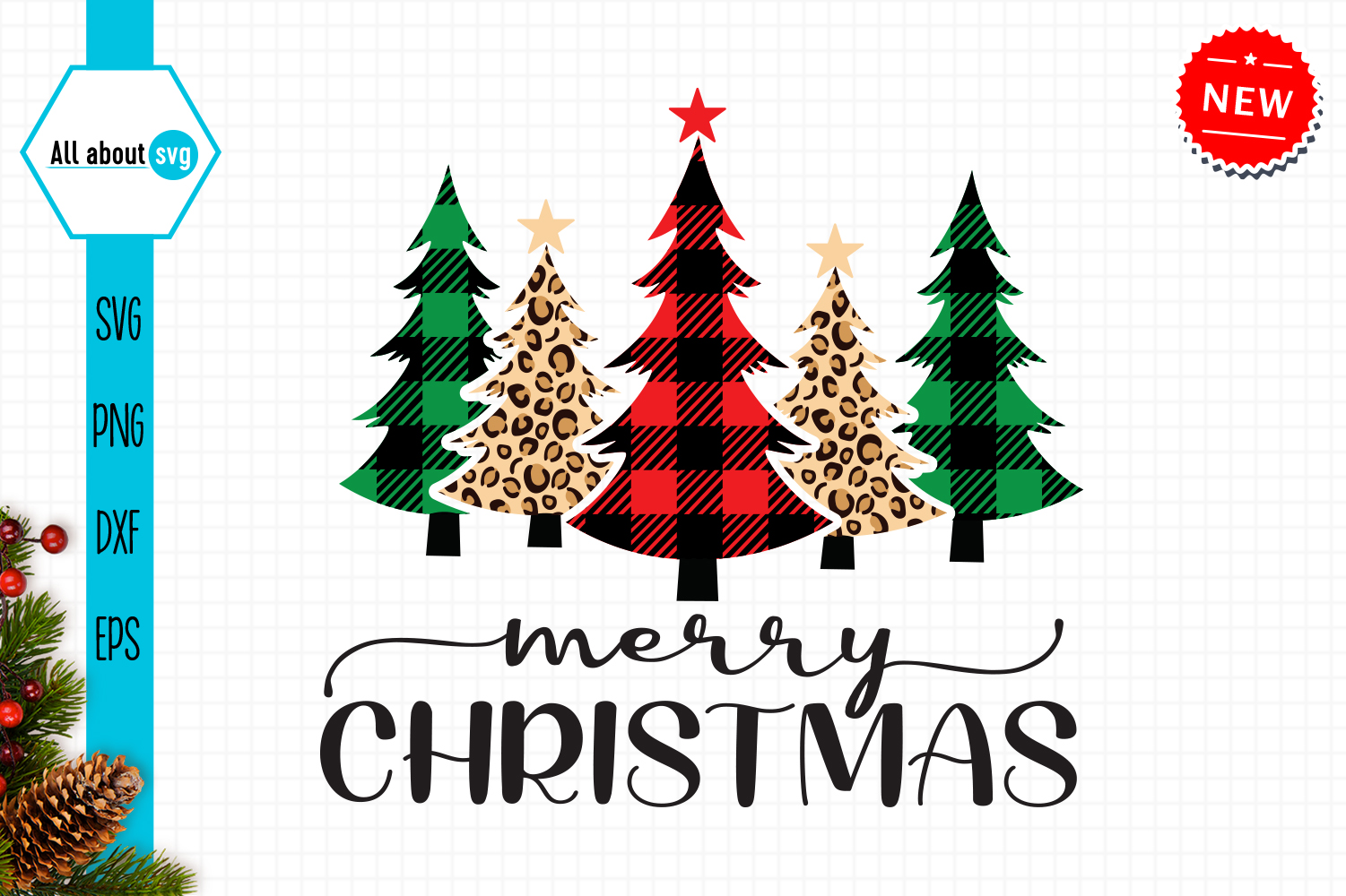 Buffalo Plaid Christmas Trees Svg Graphic By All About Svg Creative Fabrica