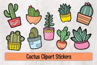 Print on Demand: Cactus Clipart Stickers Graphic Illustrations By 18CC