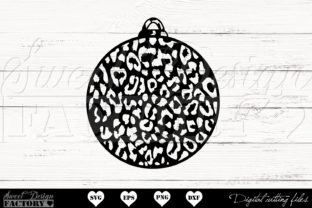 Print on Demand: Cheetah Christmas Ball Graphic Crafts By SweetDesignFactory