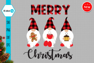 Print on Demand: Christmas Buffalo Plaid Gnomes Svg Graphic Crafts By All About Svg
