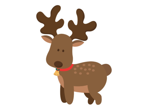 Christmas Deer Character Illustration Graphic Illustrations By printablesplazza