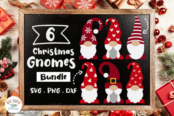 Christmas Gnomes Bundle Graphic Crafts By redearth and gumtrees