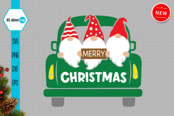 Christmas Gnomes in Truck Svg Graphic Crafts By All About Svg