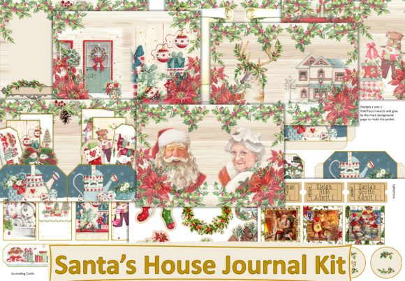 Print on Demand: Christmas Journal Kit with Ephemera Graphic Crafts By The Paper Princess