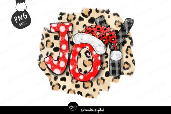 Christmas Sublimation Leopard PNG Graphic Illustrations By CatAndMe