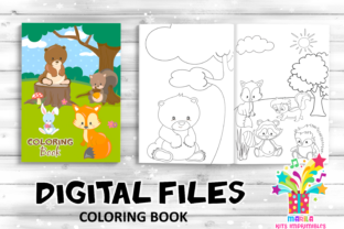 Print on Demand: Coloring Book Forest Animals Activities Graphic Coloring Pages & Books Kids By marilakits