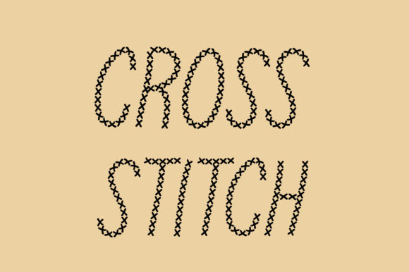 Print on Demand: Cross Stitch Decorative Font By Vladimir Carrer