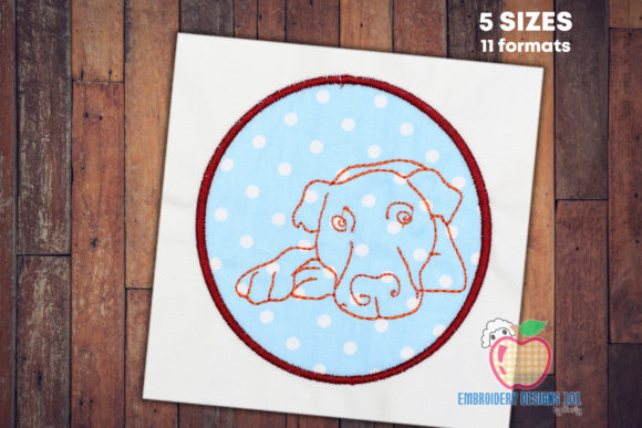 Dog Face As the Applique Design Dogs Embroidery Design By embroiderydesigns101