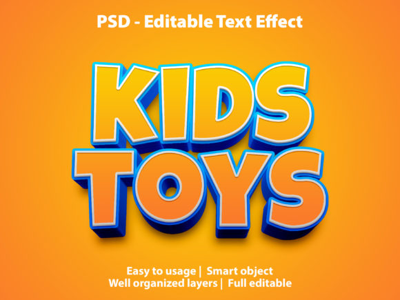 Editable Text Effect Kids Toys Premium Graphic