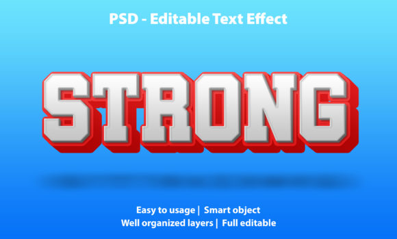 Editable Text Effect Strong Premium Graphic