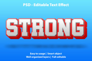 Editable Text Effect Strong Premium Graphic Graphic Templates By yosiduck