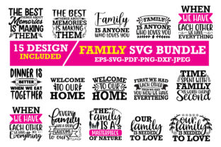 Print on Demand: FAMILY SVG BUNDLE Graphic Crafts By Design Store Bd.Net