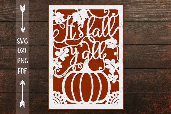 Fall Thanksgiving Card Papercut Svg Graphic 3D SVG By Cornelia