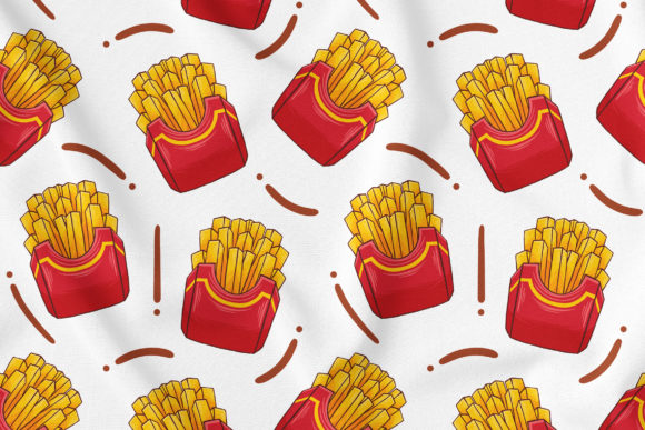 French Fries Seamless Pattern Graphic Patterns By medzcreative