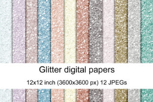 Print on Demand: Glitter Digital Papers Graphic Textures By Andrea Kostelic