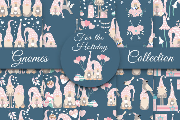 Print on Demand: Gnomes for the Holiday Graphic Illustrations By Andreea Eremia Design