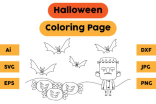 Halloween Coloring Page 75 Graphic Coloring Pages & Books Kids By isalsemarang