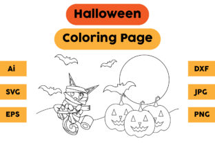 Halloween Coloring Page 81 Graphic Coloring Pages & Books Kids By isalsemarang
